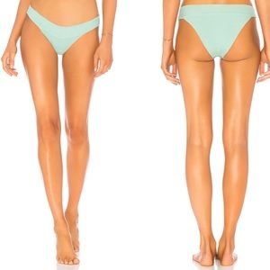 L Space Veronica Ribbed Bottoms Mint Green Large